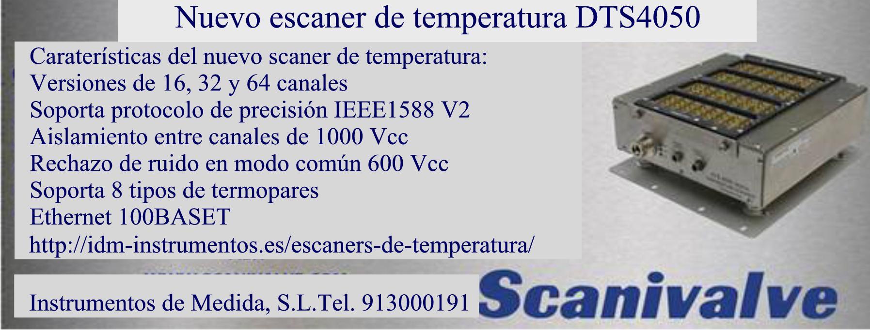 Escaner temperatura Scanivalve