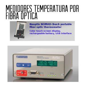 Medidores de temperatura por fibra óptica