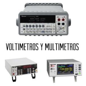 Voltímetros y multímetros