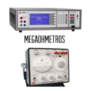 Megaohmetros digitales y analógicos